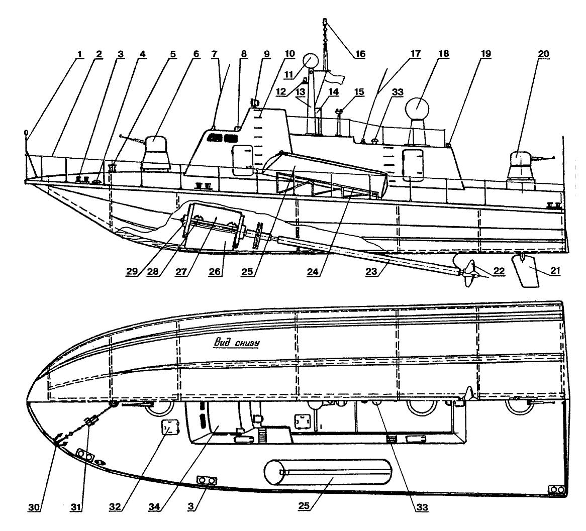 чертежи тренер лодки