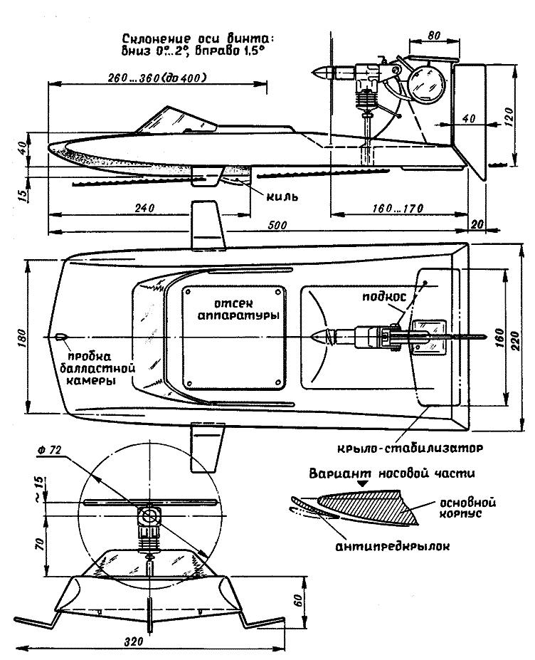 размеры самодельной модели