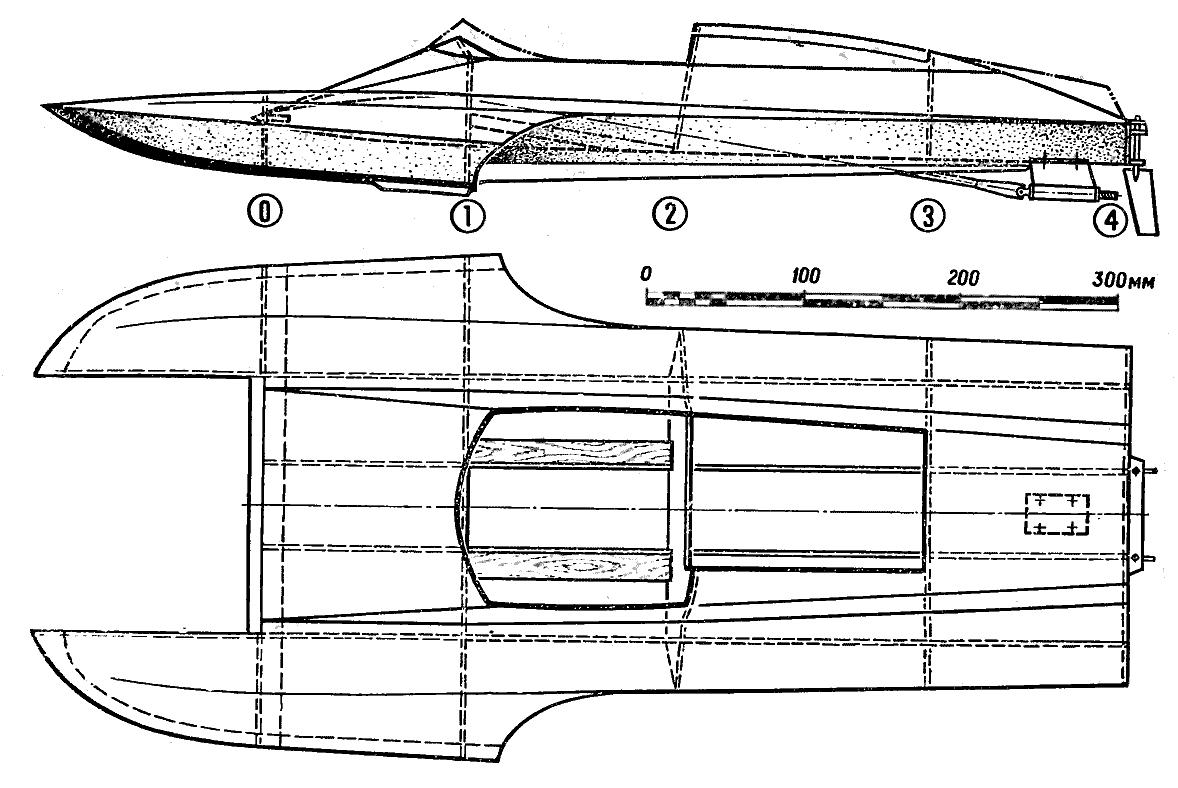 Проект моторной лодки ПК-5
